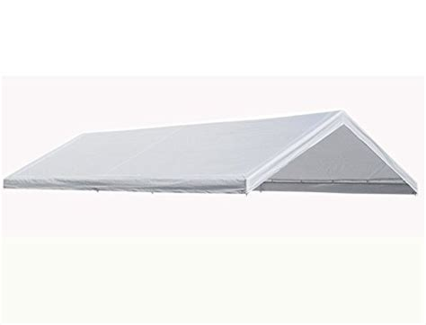 Canopy Replacement Cover 10'x20' White Tarp Top Roof Roofing Logo Templates Red Roof Inn Myrtle Beach Reviews Elite Solutions Detroit Warren Mi Epdm Rubber Patch Kit Materials Calculator Uk Shingles Canada Home Hardware Copper Flashing Lowes