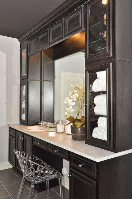 custom bathroom vanities with makeup area custom bathroom vanity traditional bathroom