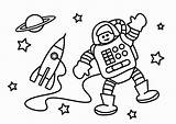Astronaut Coloring Colorear Para Astronauta Dibujo Astronaute Coloriage Pages Malvorlage Bilde Fargelegge Kleurplaat Dibujos Dessin Printable Imprimir Popular Coloringhome Grote sketch template
