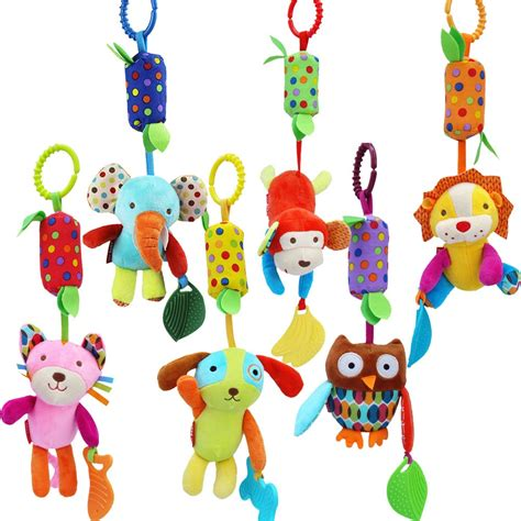 Rattle Chime baby rattle hanging chime clip on teether for stroller