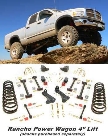 rancho   dodge ram  power wagon  lift rsb
