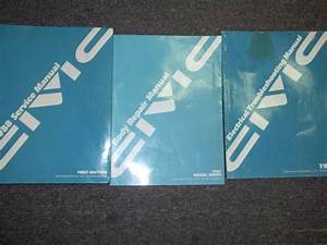 1988 Honda Civic Service Shop Repair Manual Set Oem W