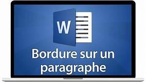 Tutoriel Word 2016 - Ajouter Une Bordure  U00e0 Un Paragraphe