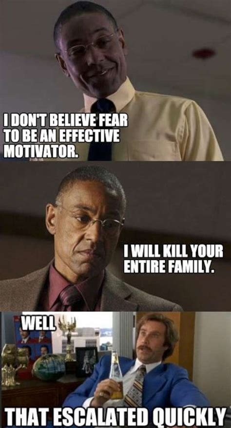 Todd Breaking Bad Meme - fear is not an effective motivator