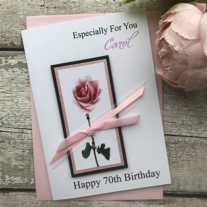 Birthday Handmade Pink Card Rose Cards Luxury