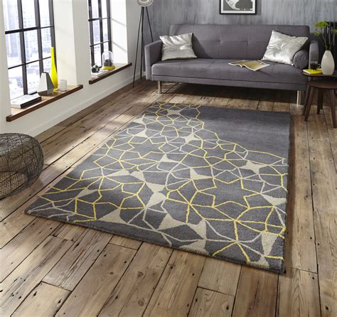 yellow and gray rug spectrum tufted arrows rug 100 wool modern