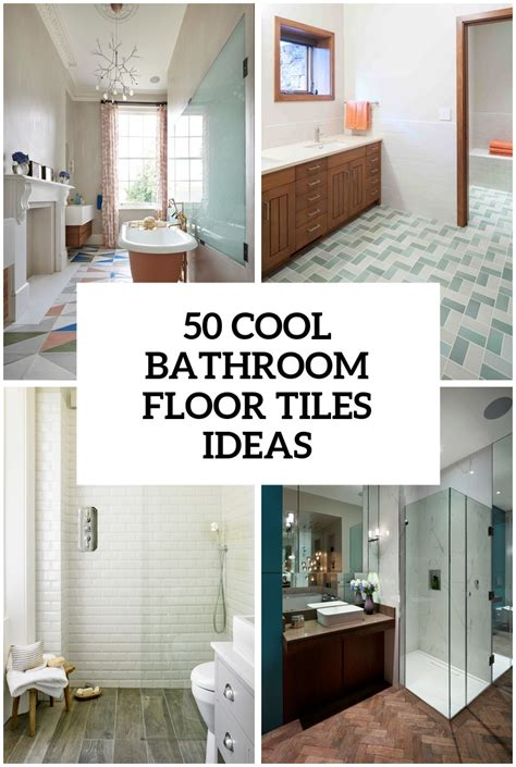 As ceramic bathroom floor tiles are very hard and cold, it doesn't hold on to heat very well. 50 Cool Bathroom Floor Tiles Ideas You Should Try - DigsDigs