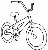 Coloring Bike Bicycle Pages Printable Getcoloringpages Easy sketch template