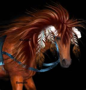Native American Indian Horse War
