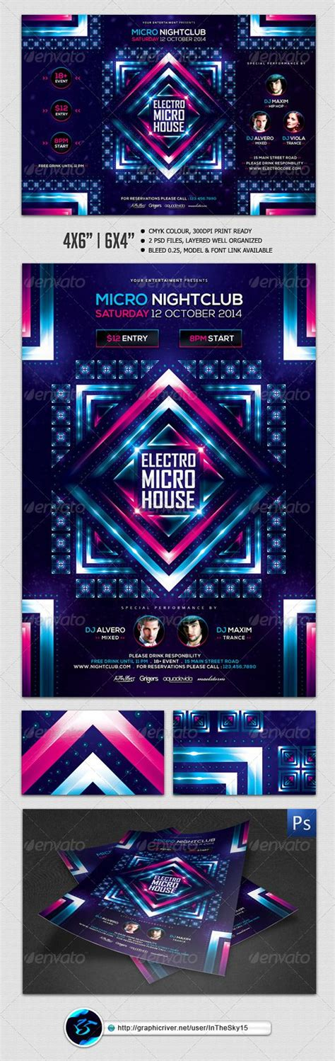 download graphicriver electro dj party flyer template 6502526 11 best spring classes flyer images on pinterest flyer