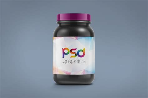 Free glass cosmetic jar mockup to showcase your cosmetic packaging design in a photorealistic look. Free Plastic Jar Mockup - Packaging Mockup - Freebies - Fribly