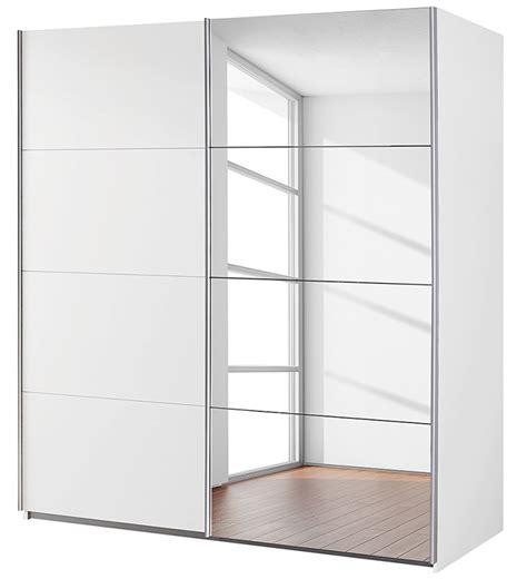 armoire 2 portes coulissantes 1 miroir blanc balto