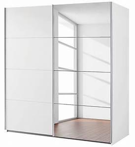 Armoire Dressing Blanche : armoire 2 portes coulissantes 1 miroir blanc balto mod le ~ Premium-room.com Idées de Décoration