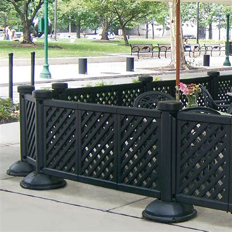 portable patio fence 3 panel section facility
