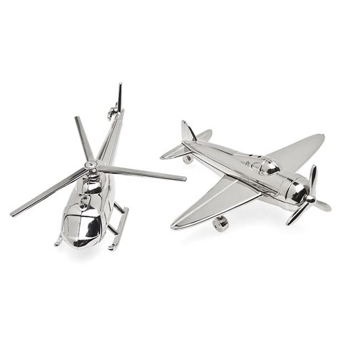 airplane helicopter nickel salt pepper godinger
