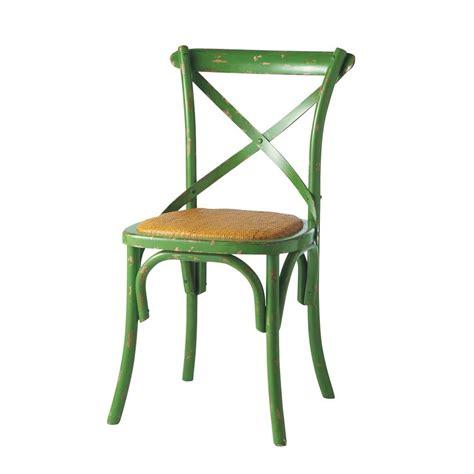 chaise vert anis chaise en rotin naturel et bois vert anis tradition