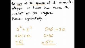 How To Prove Stuff Algebraically - Gcse Proof