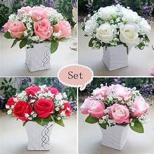 aliexpresscom acheter rose gypsophila avec vase fleur With chambre bébé design avec fleur mariage