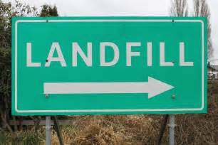Sign That Says Landfill