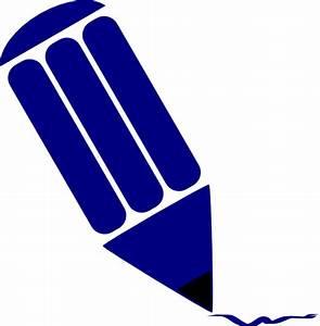 Blue Pencil Clip Art at Clker.com - vector clip art online ...