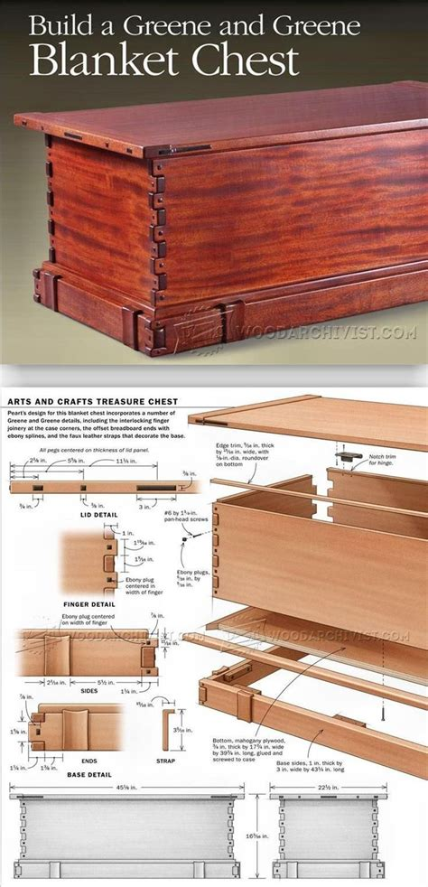 blanket chest plans furniture plans  projects