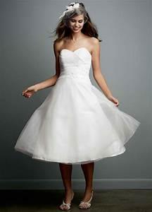 david39s bridal sample tea length strapless tulle wedding With strapless tea length wedding dress