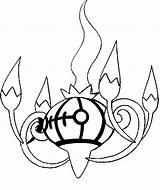 Pokemon Chandelure Coloring Pages Drawings Morningkids sketch template