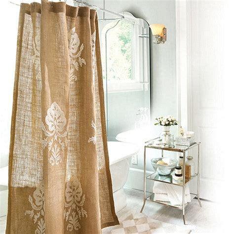 burlap crewel damask shower curtain ballard designs