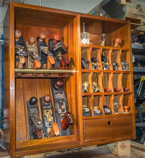 Plane Cabinet by Mahogany Plane Till Plane Cabinet Tool Storage Woodshop