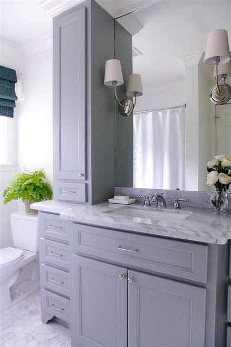 grey bathroom cabinets lovely bathroom features a gray vanity paired with a grey 13028