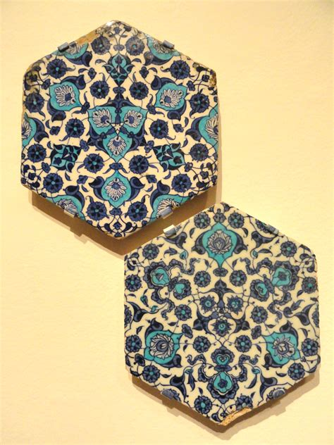 bathroom wall tiles ideas file two hexagonal tiles with floral arabesque c 1540