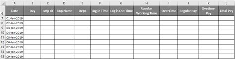 excel timesheet template creating employee timesheet