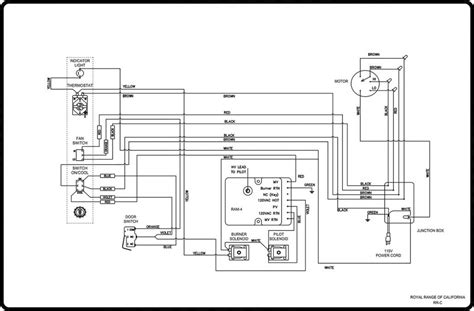 Wiring Diagram For Back by Wiring Diagrams Royal Range Of California