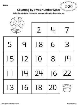 counting by twos worksheets for kindergarten counting by twos number maze worksheet numbers