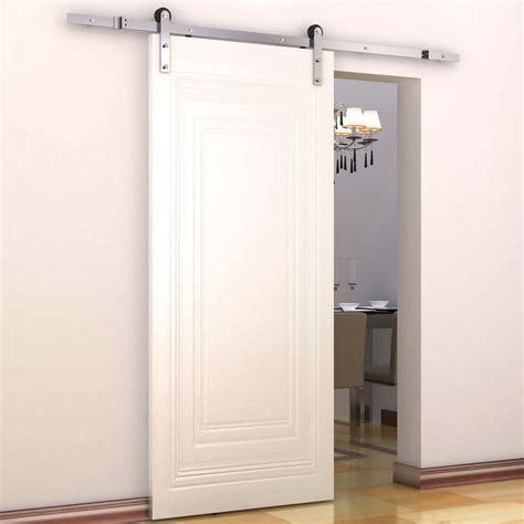 storage idea for small bathroom homcom interior sliding barn door kit hardware set