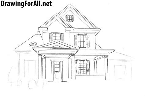 draw  house  beginners drawingforallnet