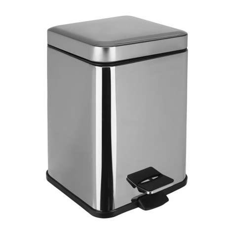 habitat poubelle cuisine detroit poubelle carrée 6l en métal habitat