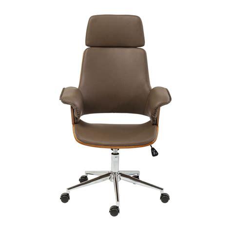 Chaise De Bureau Moderne Marron  Flow  Kare Design