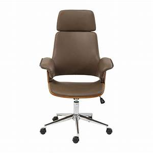 Chaise De Bureau : chaise de bureau moderne marron flow kare design ~ Teatrodelosmanantiales.com Idées de Décoration
