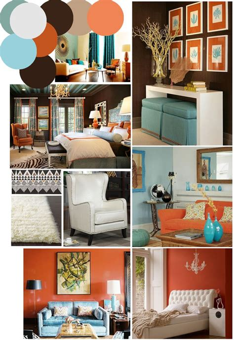 Check out these great orange living room design ideas. burnt orange and blue decor | Billingsblessingbags.org