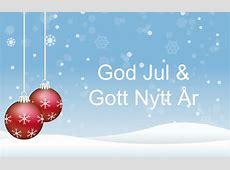 God Jul Gott Nytt år Kort Jul 2018