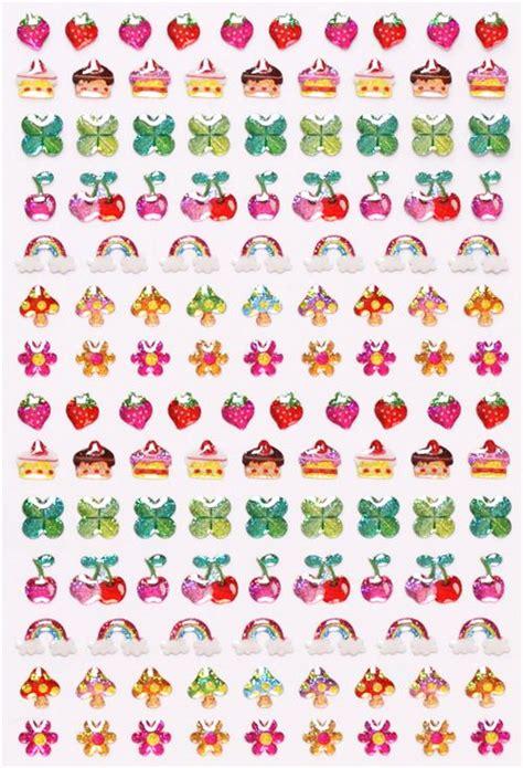 fabric from walmart kawaii mini strawberry cloverleaf cherry glitter stickers