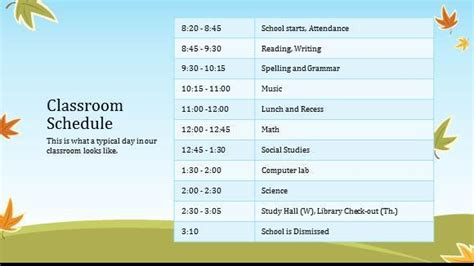 classroom schedule template 8 class schedule makers excel templates