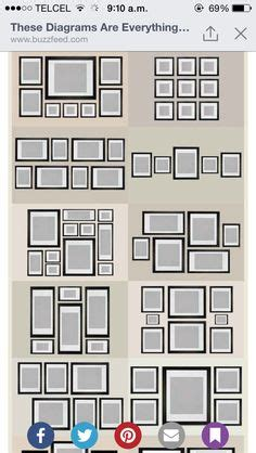 photo wall collage  frames  layout ideas wall