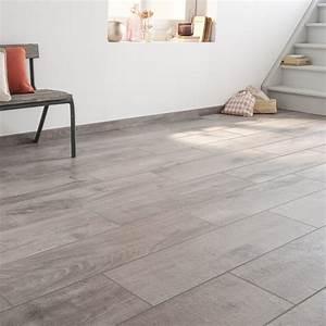 Carrelage Au Sol : carrelage sol et mur gris effet bois heritage x ~ Nature-et-papiers.com Idées de Décoration