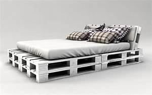 Bett Aus Holzpaletten : palettenbett bauen weiss streichen interiors pinterest ~ Michelbontemps.com Haus und Dekorationen
