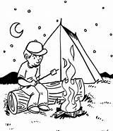 Coloring Camping Popular sketch template