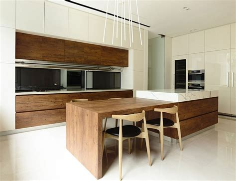 kitchen island modern nature inspired residence in singapore