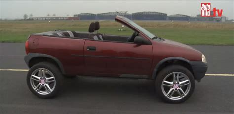 old opel old opel corsa turned into convertible suv autoevolution