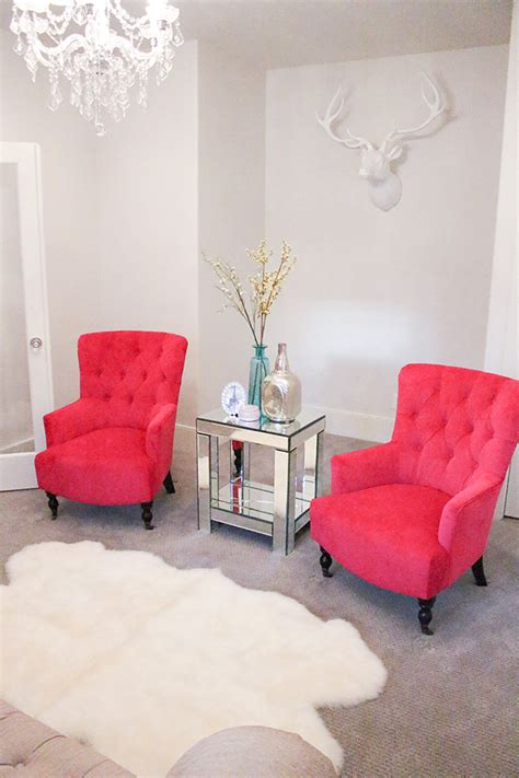 new fuchsia chairs in my living room a slice of style